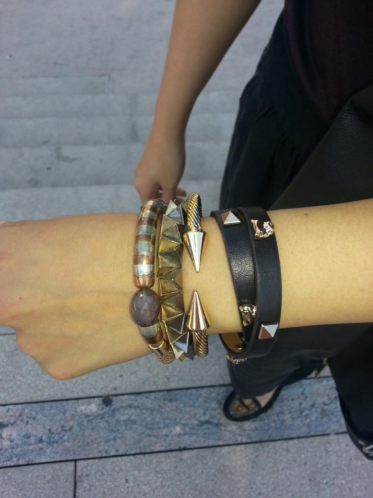 Bracelets - Front & Company, Suzy Sheir, Forever 21, H&M